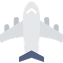 Aeroplane, transport, Plane, airplane, flight, Airport Black icon