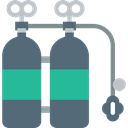 Diving, sport, Oxygen Tank, utensils DimGray icon