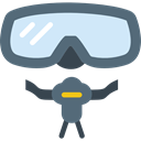 sports, goggle, Snorkel, sea, Diving, Dive, Summertime DimGray icon