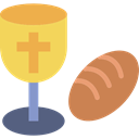 religion, communion, Christianity, chalice, Bread SandyBrown icon