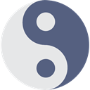 philosophy, Balance, signs, Yin Yang, Taoism, religion DimGray icon