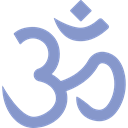 lotus, Om, religion, indian, meditation, oriental, religious, signs, hinduism, Asian, Yoga MediumPurple icon