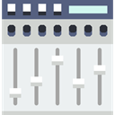 equalizer, Multimedia, music player, Mixer, technology, Multimedia Option WhiteSmoke icon