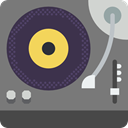 music player, technology, lp, Record Player, music, vinyl, turntable DarkSlateGray icon