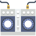 Mixing, Boombox, musical instrument, Mixer, Multimedia, music, radio LightGray icon