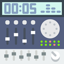 Mixer, radio, Mixing, music, musical instrument, Boombox, Multimedia DimGray icon