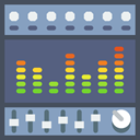 Audio, volume, Equalization, Sound Bars, music, sound, equalizer, Multimedia DimGray icon
