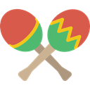 music, shaker, maracas, musical instrument, tropical IndianRed icon