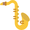 saxophone, sax, musical instrument, music, Wind Instrument, jazz SandyBrown icon