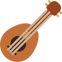 Orchestra, Ukelele, musical instrument, String Instrument, music Black icon