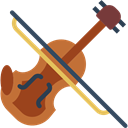 String Instrument, Violin, musical instrument, music, Orchestra Black icon