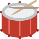 musical instrument, Percussion Instrument, music, Orchestra, Drum, Drumsticks Firebrick icon