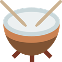 Percussion Instrument, Orchestra, music, musical instrument, Timpani WhiteSmoke icon