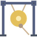 Music Instruments, Gong, oriental, Orchestra, music, Percussion Instrument DimGray icon