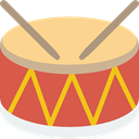 Percussion Instrument, Drumsticks, Orchestra, music, Drum, musical instrument IndianRed icon