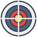 Aim, weapons, shooting, sniper, Target WhiteSmoke icon