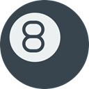 pool, entertainment, sports, objects, Eight Ball DarkSlateGray icon