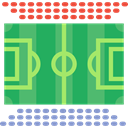 stadium, field, football field, sports, soccer field MediumSeaGreen icon