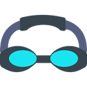 sports, swimming, goggle, sea, Dive, Goggles, Diving, Summertime Black icon