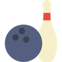Fun, leisure, sports, Bowling, Game, Bowling Pins DimGray icon