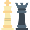 chess, sports, sport, piece, Queen, king Black icon