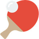 ping pong, sports, table tennis, racket, equipment Tomato icon