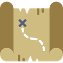 Maps And Flags, Map, treasure, pirate, Direction, treasure map, compass, Orientation Tan icon