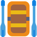 leisure, Rafting, sports, transport, Summertime Sienna icon