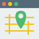 Multimedia, Map, Gps, html, website, interface, web page, Browser WhiteSmoke icon