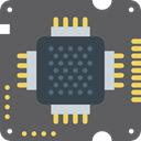 electronic, processor, Chip, Cpu, technology DimGray icon