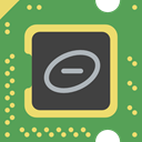 electronic, Chip, processor, Cpu, technology MediumSeaGreen icon
