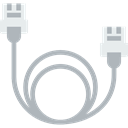Cable, technology, ethernet, Multimedia, electronic, Device Black icon