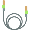 Device, Sound Cable, Multimedia, electronic, technology Black icon