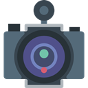 Camera, photograph, photo camera, photography, technology, photo DarkSlateGray icon