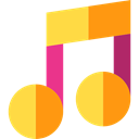music player, music, Quaver, musical note, musical SandyBrown icon