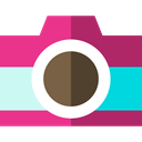 photo camera, photo, Camera, photograph, photography, technology MediumVioletRed icon