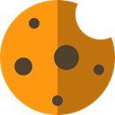 sweet, Bakery, cookie, cookies, Dessert, food DarkOrange icon