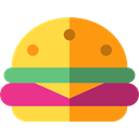 junk food, Fast food, sandwich, hamburger, Burger, food DarkOrange icon