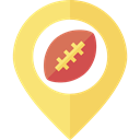 Map Point, placeholder, signs, American football, map pointer, Map Location, pin Khaki icon