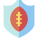 shield, sports, team, American football PowderBlue icon