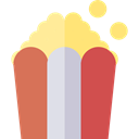 Salty, Fast food, food, cinema, popcorn, snack IndianRed icon
