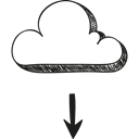 storage, interface, Multimedia, Cloud computing, technology, Multimedia Option, download, Data Black icon
