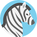 zoo, mammal, wildlife, Zebra, Animals, Animal Kingdom SkyBlue icon