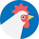Rooster, wildlife, Animal Kingdom, zoo, Animals, cock DarkCyan icon