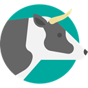 mammal, zoo, cow, Animal Kingdom, wildlife, Animals DimGray icon