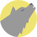 wolf, mammal, wildlife, Animals, Animal Kingdom, zoo DarkGray icon