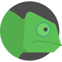 Animal Kingdom, Animals, Chameleon, wildlife, zoo, reptile MediumSeaGreen icon
