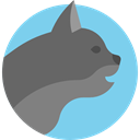 Animals, Cat, pet, Animal Kingdom SkyBlue icon