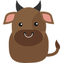 wildlife, zoo, Animal Kingdom, Animals, Bull Sienna icon