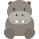 zoo, hippopotamus, wildlife, Animals, Animal Kingdom Gray icon